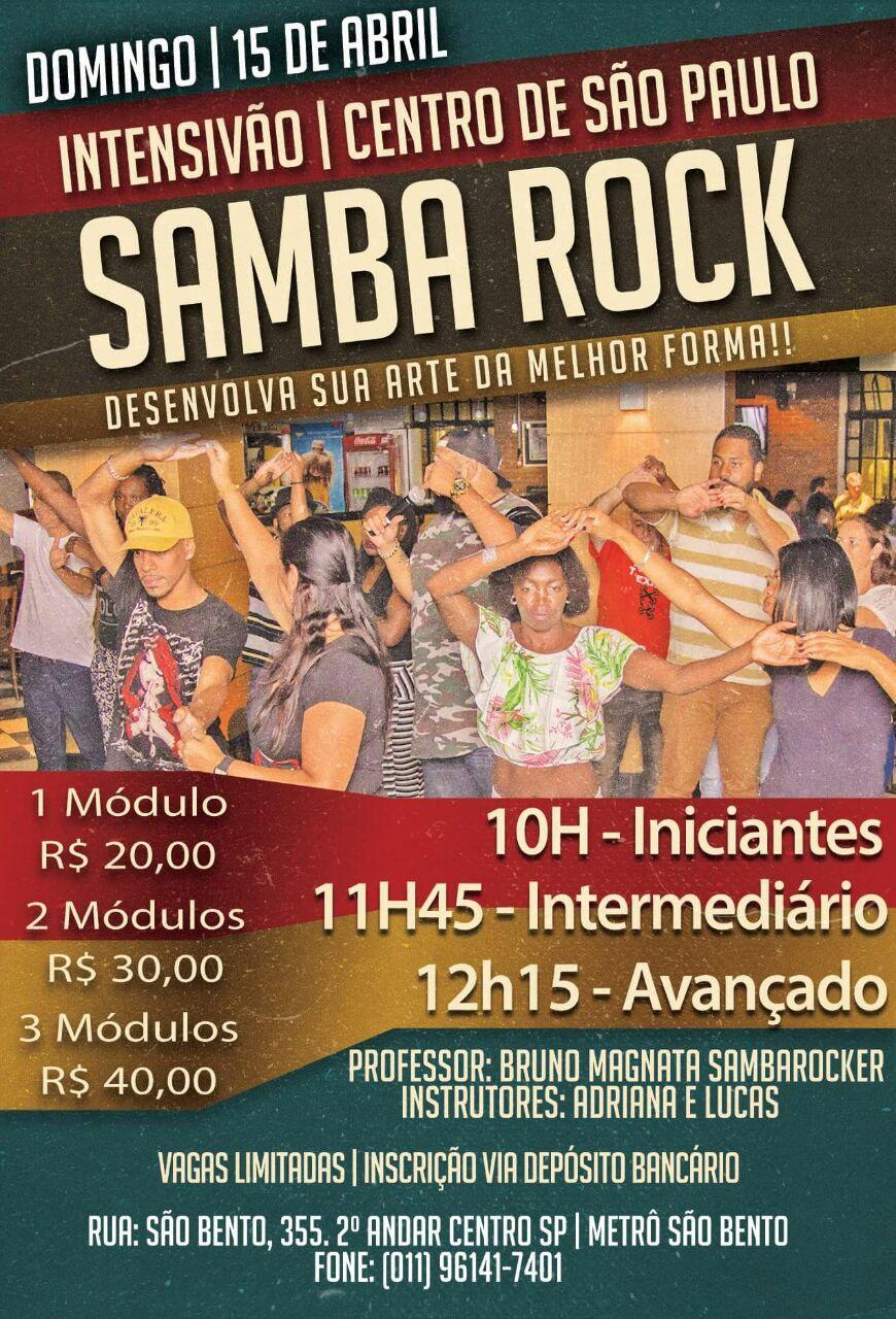 Curso intensivão de samba rock no centro de São Paulo #nota