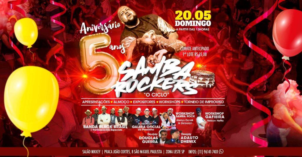 Equipe Sambarockers realiza festa de 5 anos #nota