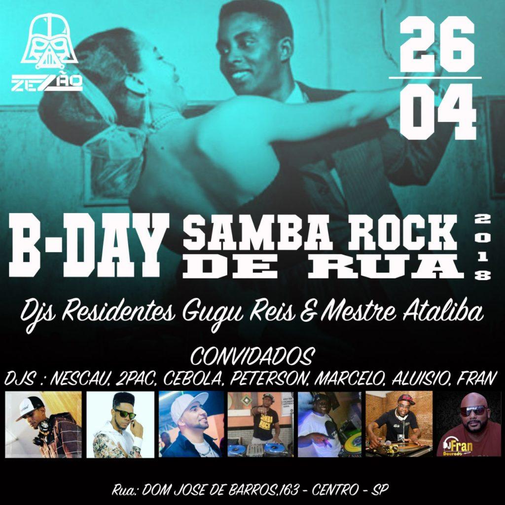 Samba Rock de Rua comemora aniversário na próxima quinta-feira #nota