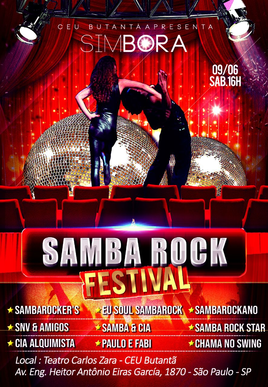 Em junho acontece Samba Rock Festival no CEU Butantã #nota