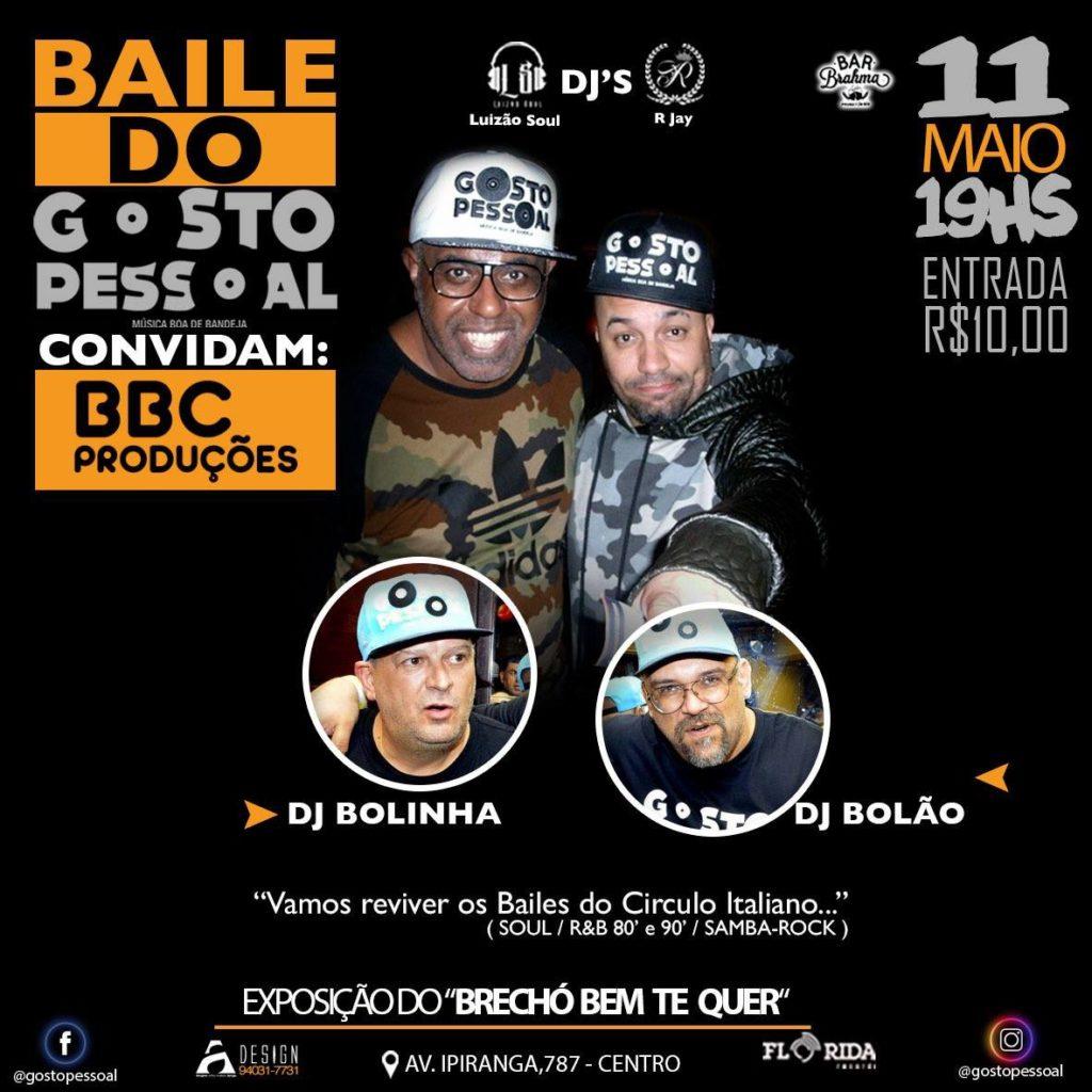 Baile do projeto Gosto Pessoal convida DJs em maio #nota