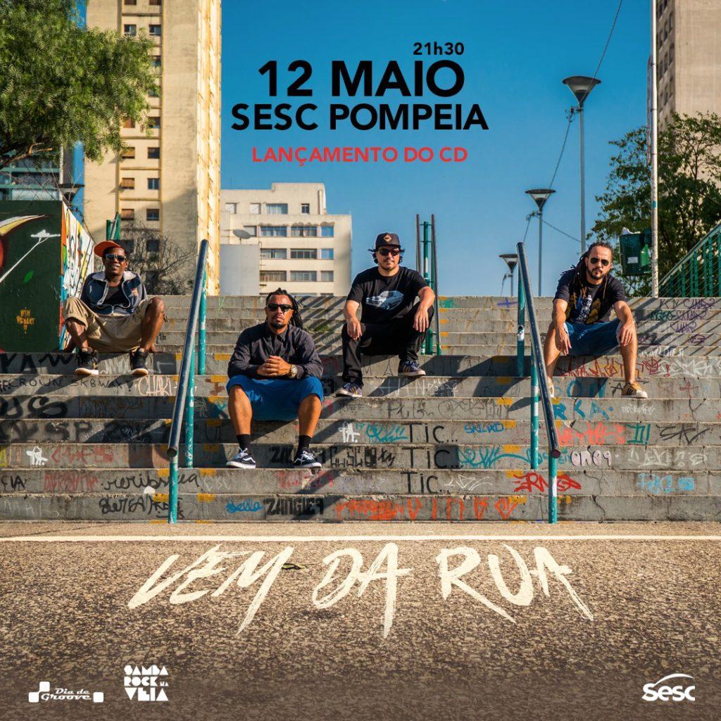 Banda Os Opalas lança álbum Vem da Rua no SESC Pompeia #nota