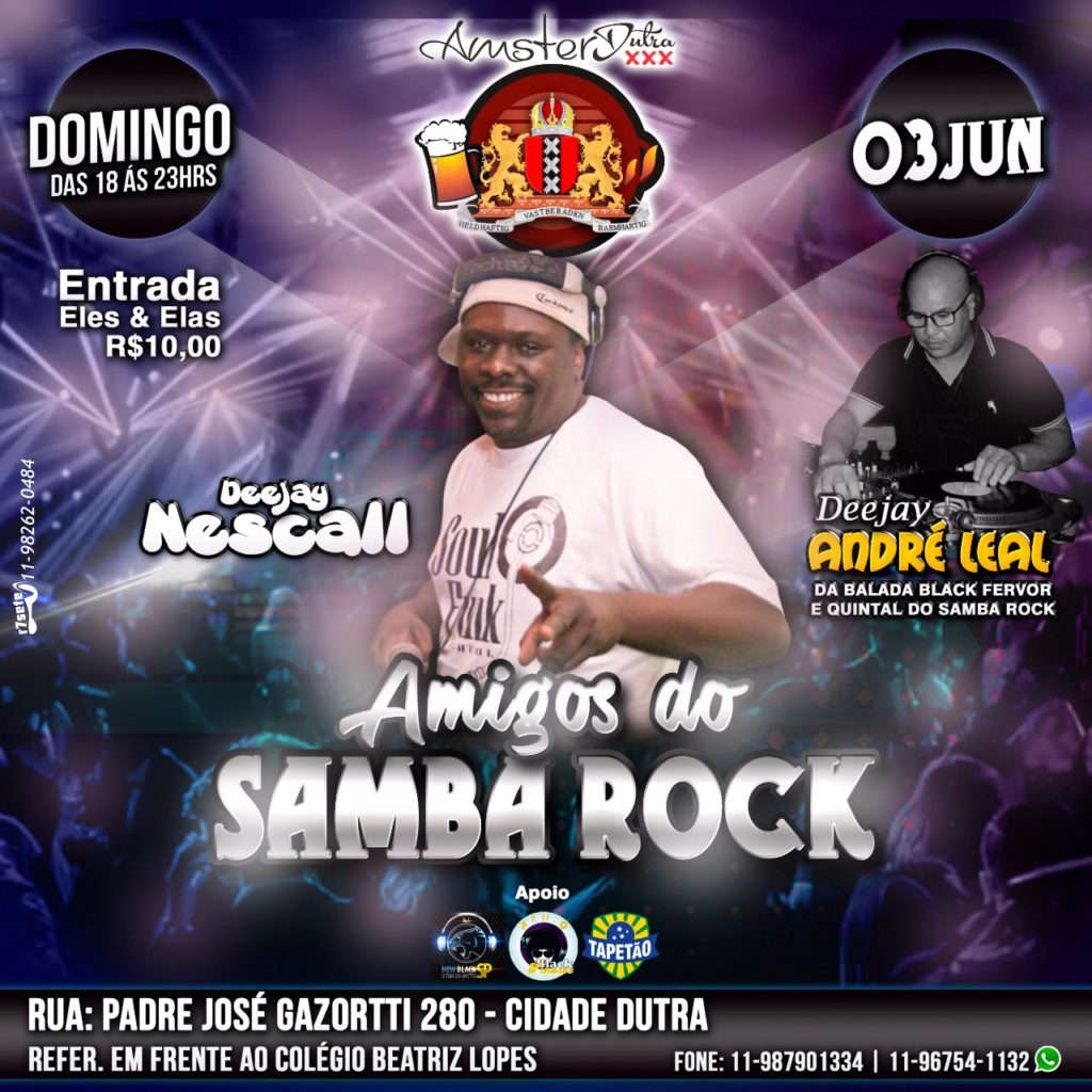 Projeto Amigos do Samba Rock acontece na zona sul de Sampa #nota