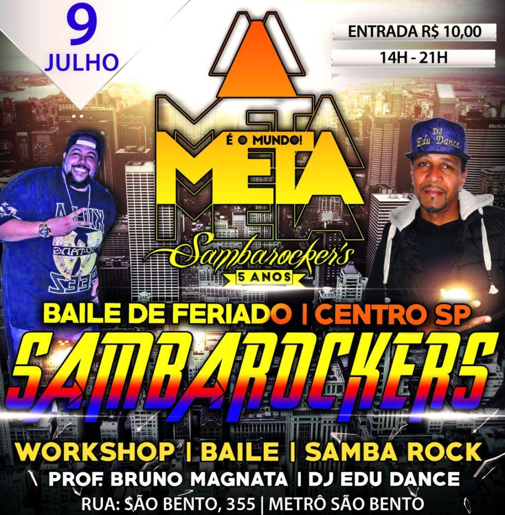 Na próxima segunda tem baile de feriado da equipe Sambarockers  #nota
