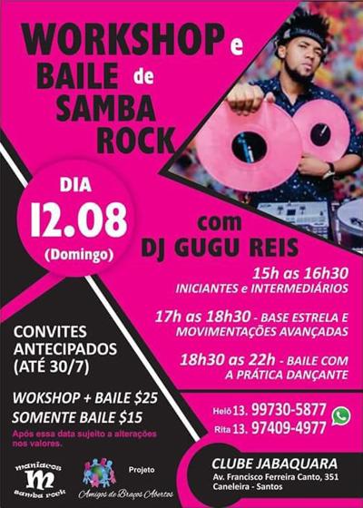 Baixada Santista recebe workshop e baile de samba rock #nota