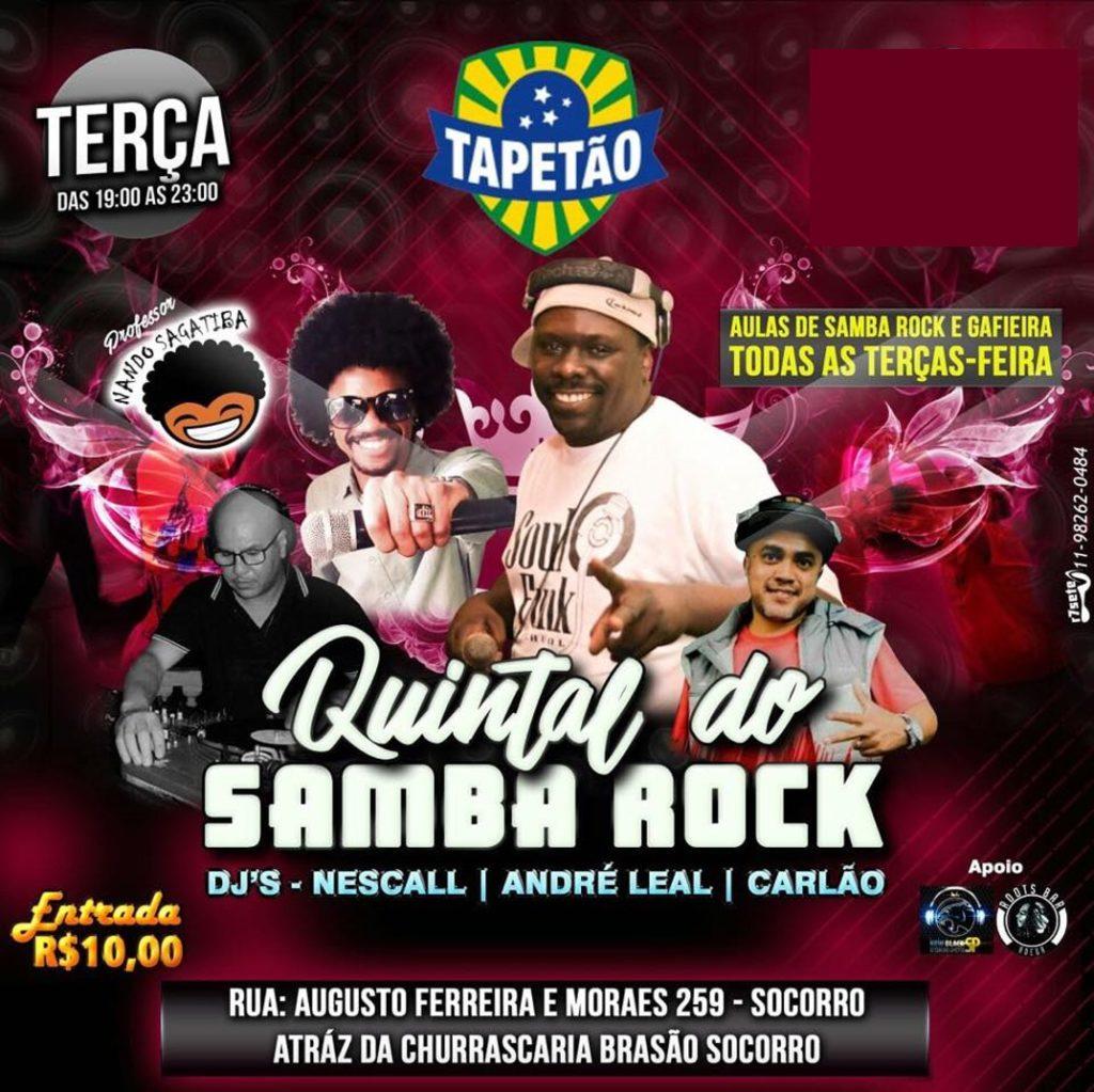 Quintal do Samba Rock é opção para curtir o ritmo às terças #nota