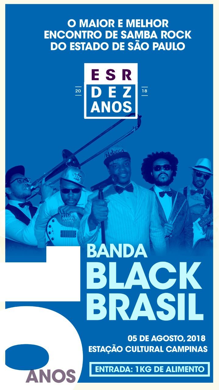 Encontro de Samba Rock completa 10 anos com show da banda Black Brasil e atrações #nota