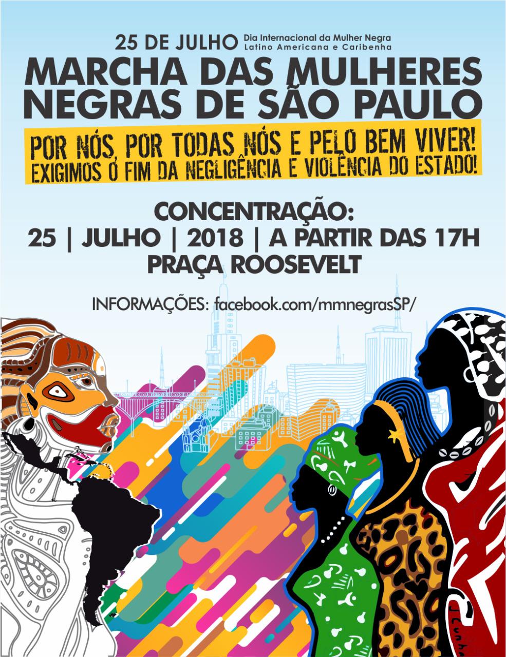 Marcha das Mulheres Negras de São Paulo é nesta quarta-feira; Concentração na Praça Roosevelt #nota