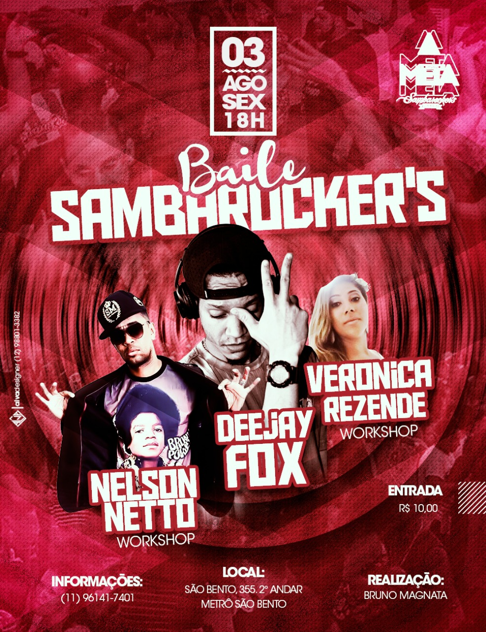 Baile da equipe Sambarockers é nesta sexta ao lado do metrô #nota