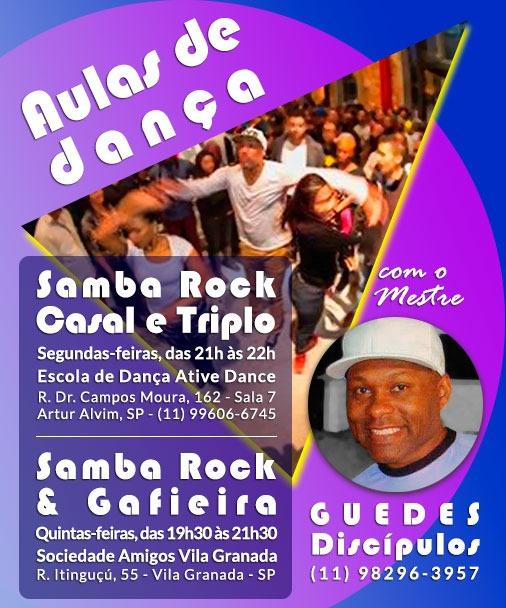 Faça aulas de samba rock e samba de gafieira com o mestre Guedes Discípulos #nota