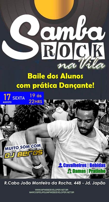 Baile dos alunos com prática dançante pelo projeto Samba Rock na Vila #nota