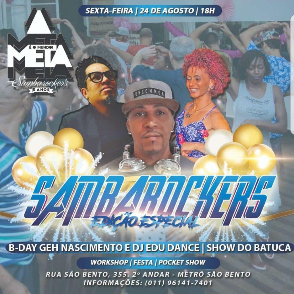 DJ Edu Dance, Batuca e comemoração de aniversários agitam festa da equipe Sambarockers #nota
