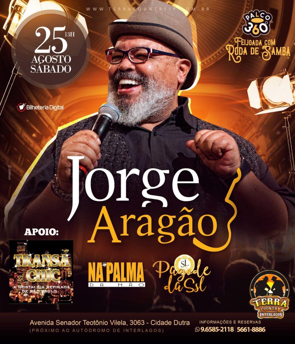 Jorge Aragão faz show no extremo da zona sul de São Paulo #nota