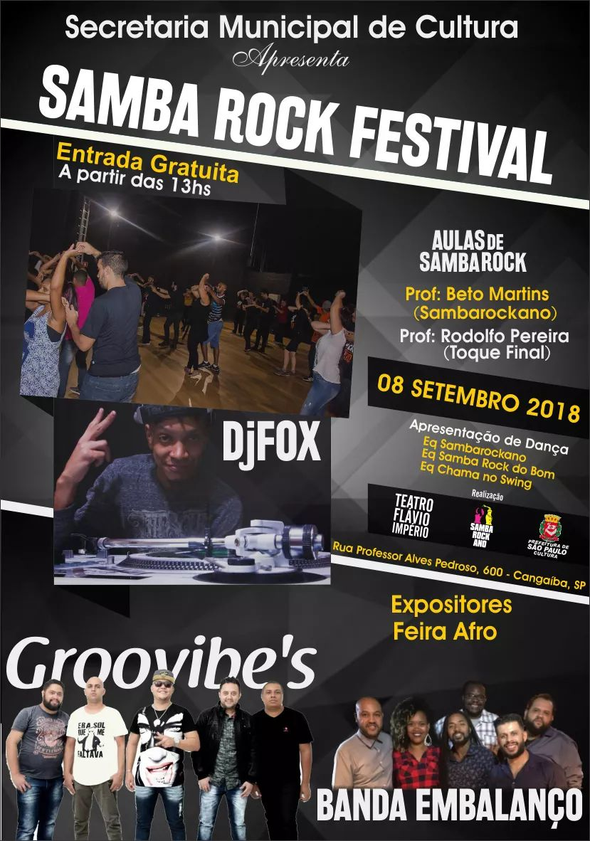 Projeto Samba Rock Festival reúne DJs e shows na ZL de São Paulo #nota
