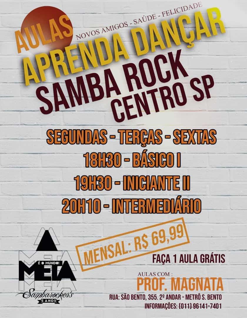 Aprenda a dançar samba rock com aulas no centro de SP #nota