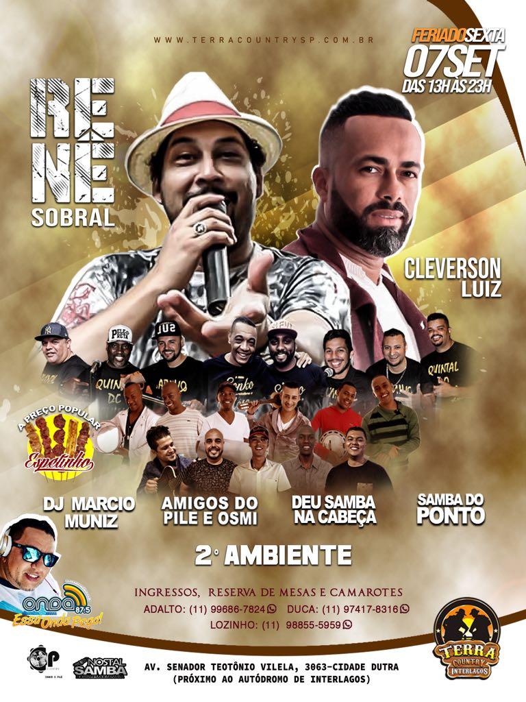 René Sobral e Cleverson Luiz promovem grande encontro de bambas do samba em Interlagos #nota
