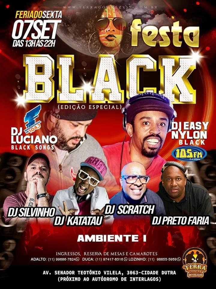 Festa Black reúne vários DJs no feriado #nota
