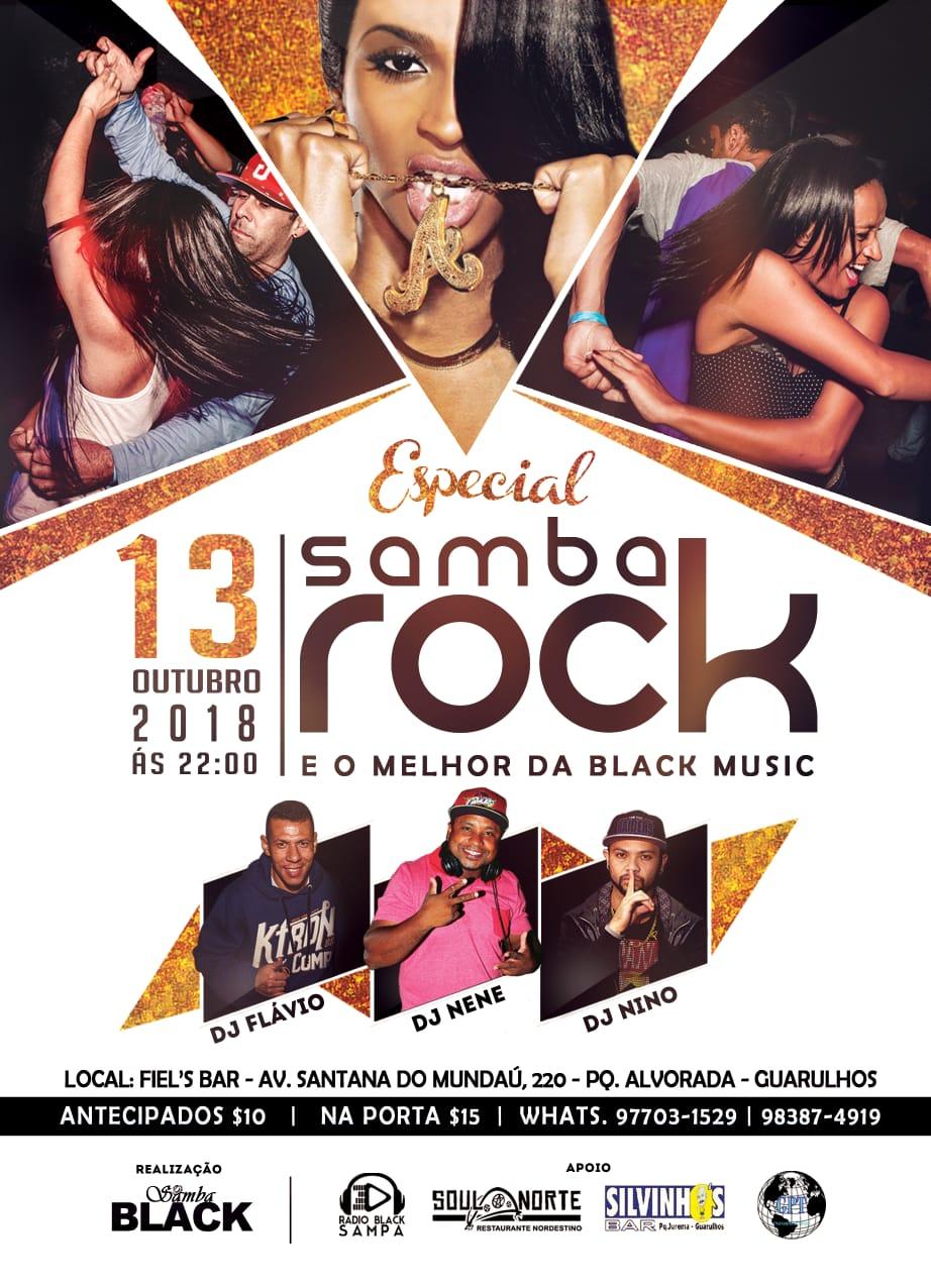 Em outubro acontece o Especial Samba Rock e o Melhor da Black Music em Guarulhos #nota
