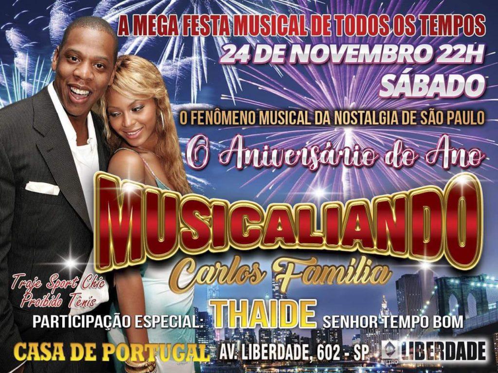 Última edição do ano do baile Musicaliando terá participação de Thaíde #nota