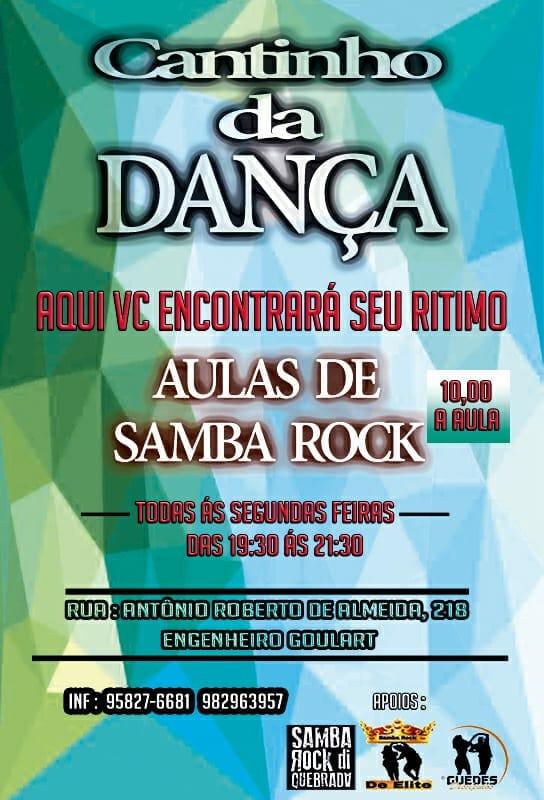 Cantinho da Dança com aulas de samba rock toda segunda-feira #nota