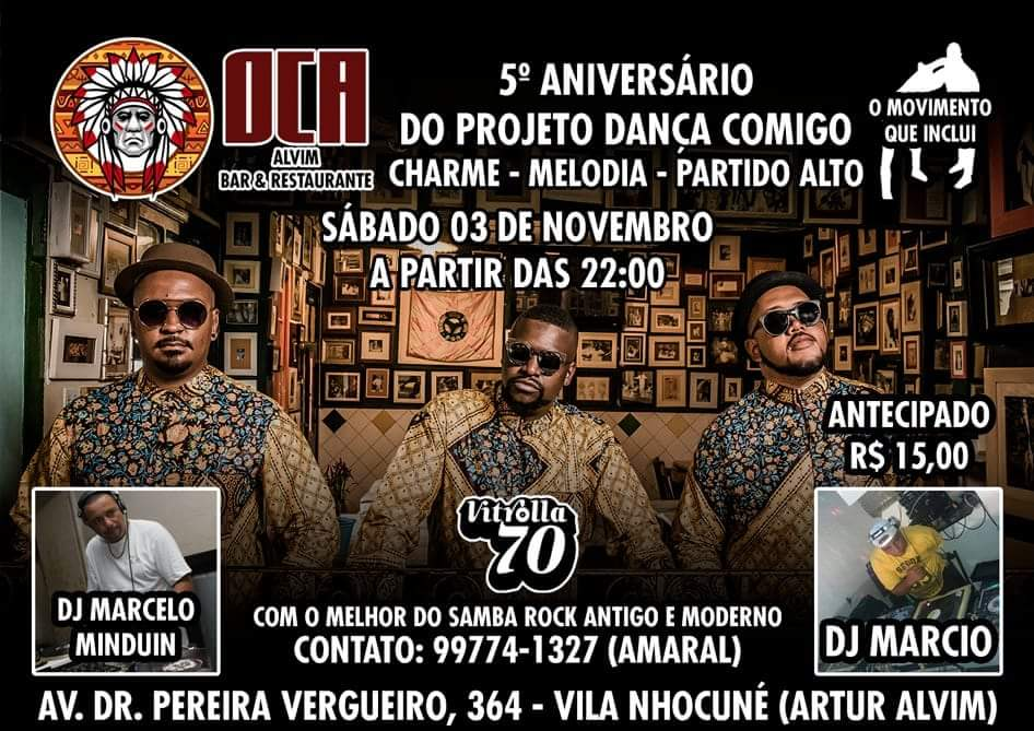 Festa de aniversário do projeto Dança Comigo com show da banda Vitrolla 70 #nota