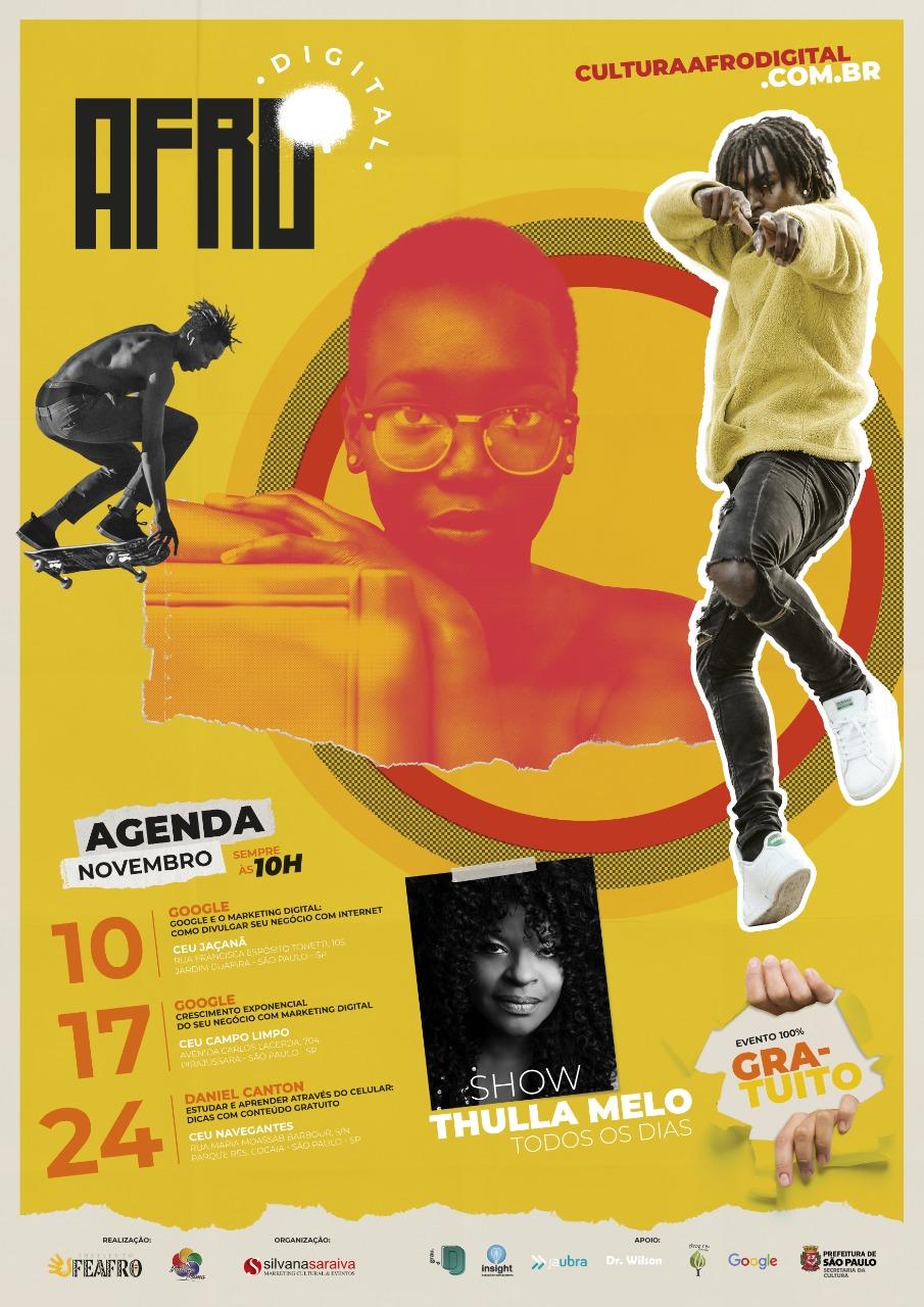 Confira a agenda de novembro do Afro Digital #nota