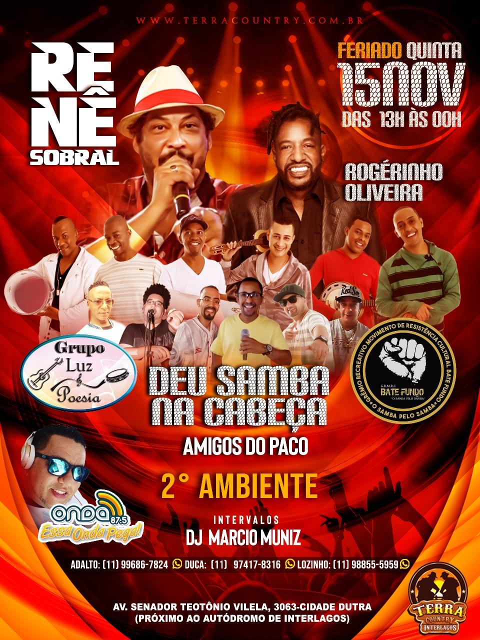 Feriado regado a muito samba com Renê Sobral e sambistas #nota
